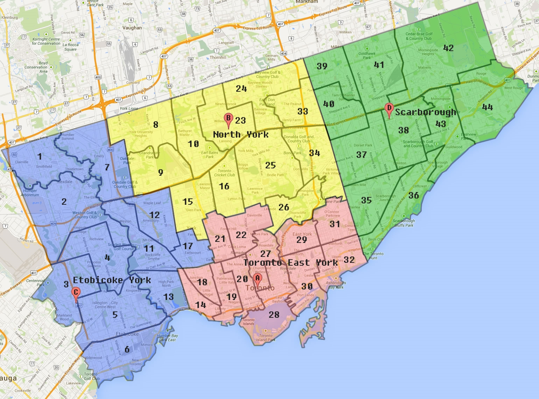 Contact Us Community Living Toronto - Toronto on us map