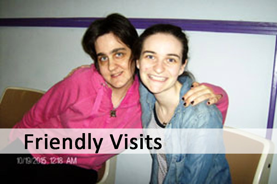 Friendly Visits button