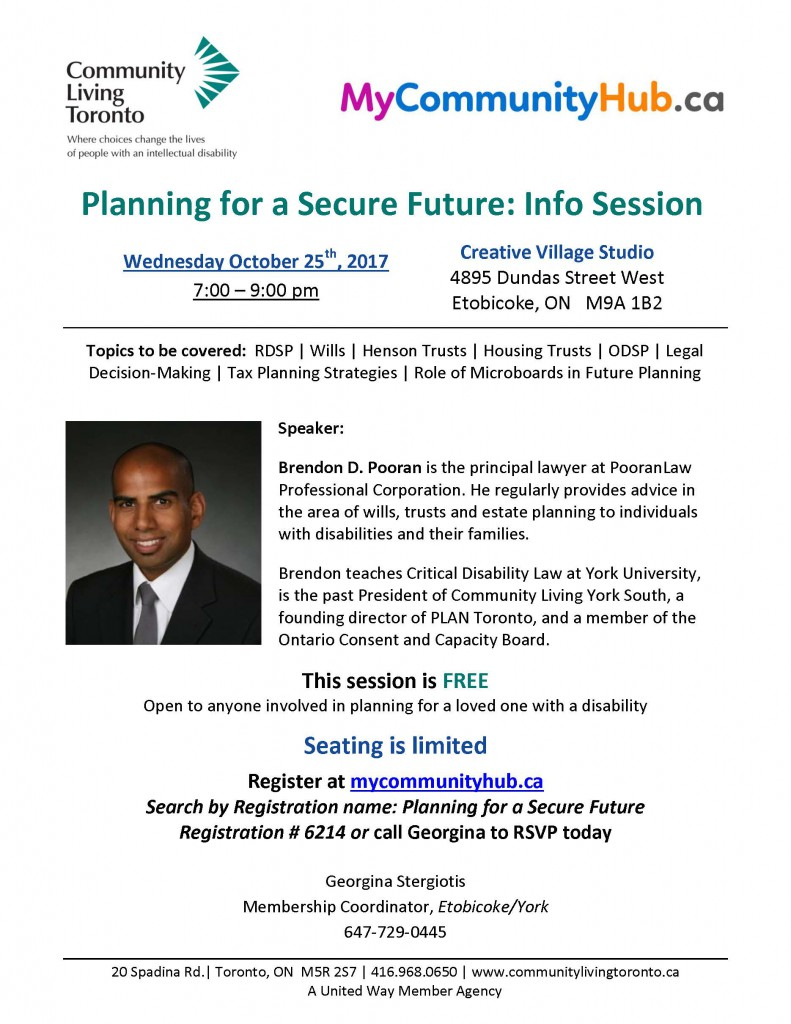 Wills and Trusts Event Flyer 2017