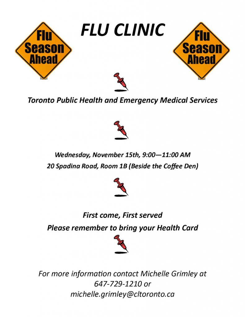 Flu Clinic Flyer 2017