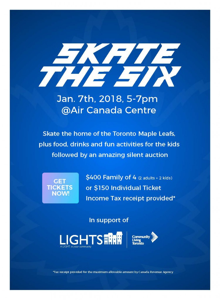 Skate The Six LIGHTS Fundraiser Community Living Toronto