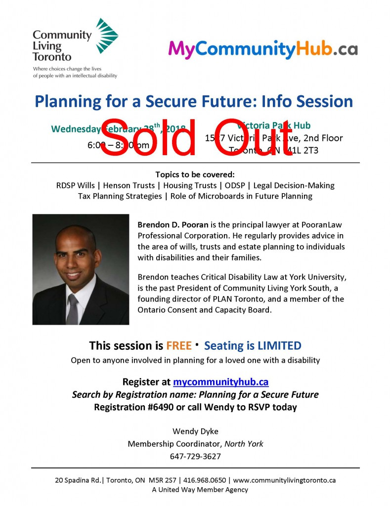 wills and trusts flyer sold out