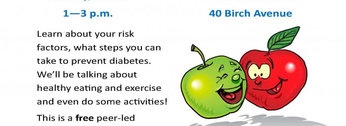 Type 2 Diabetes Prevention work shop flyer