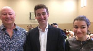 Harold Tomlison, MPP Yvan Baker, and Tori O'Brien
