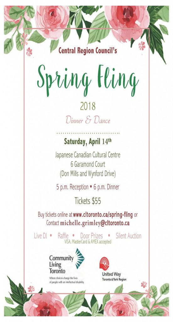 Spring Fling Flyer 2018