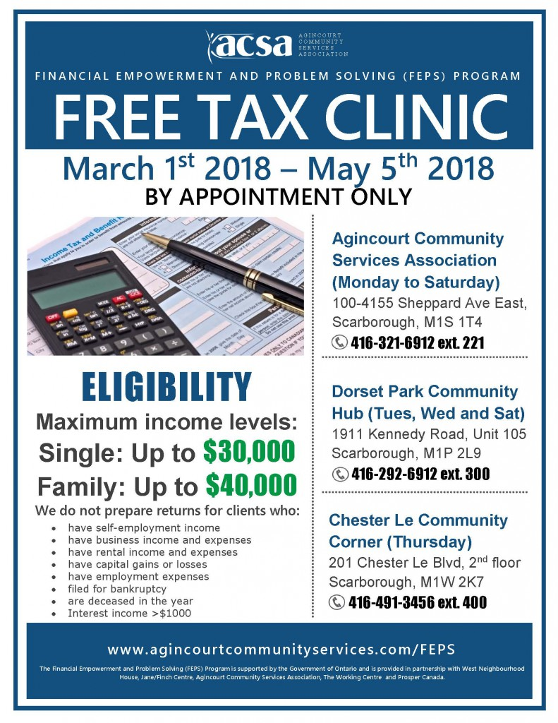 Tax Clinic Flyer