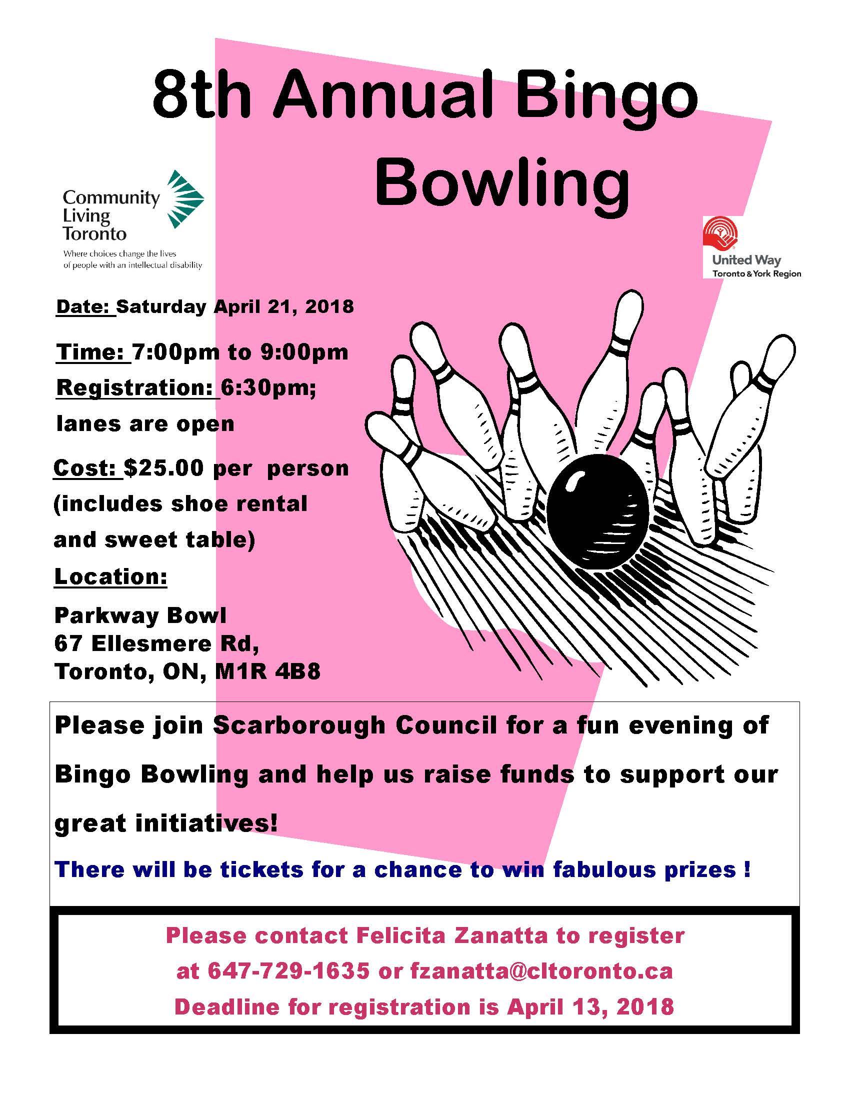 Bingo Bowling Extravaganza 2018pub