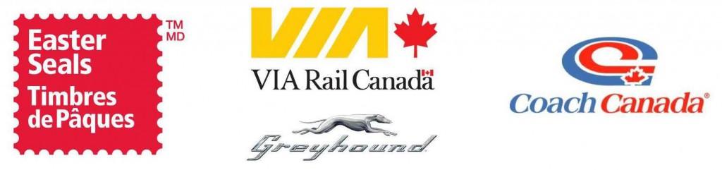 Easter Seals, VIA Rail and Coach Canada LOGO