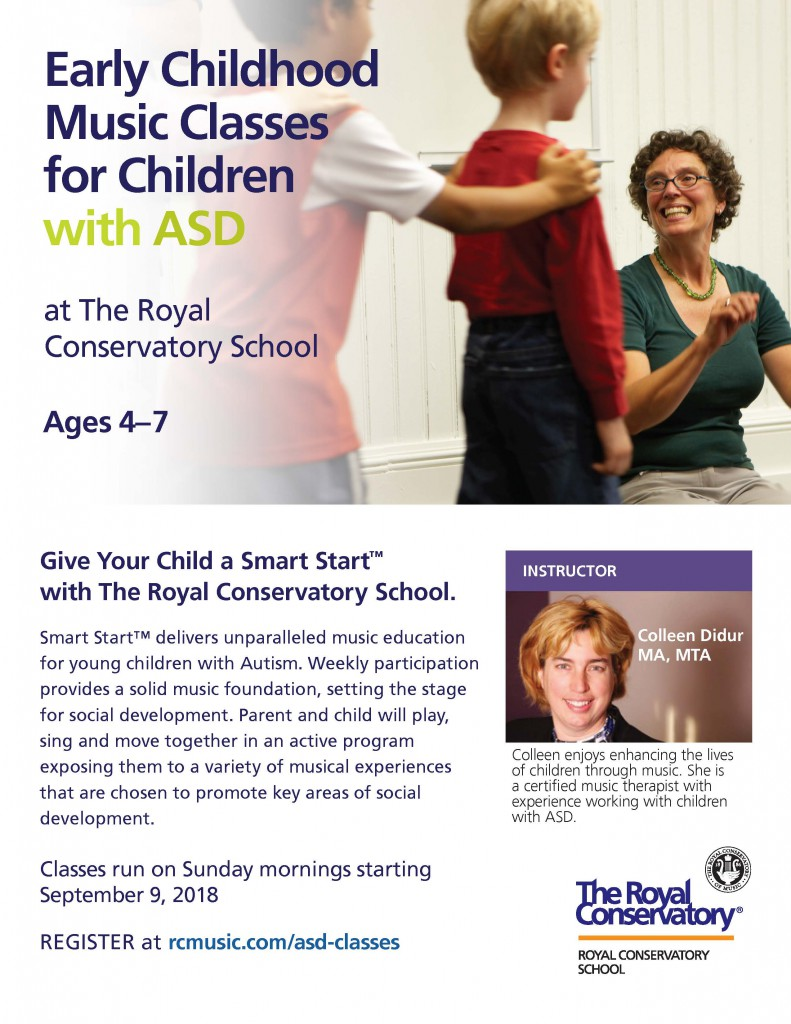 Music Classes for ASD Royal Conservatory 2018