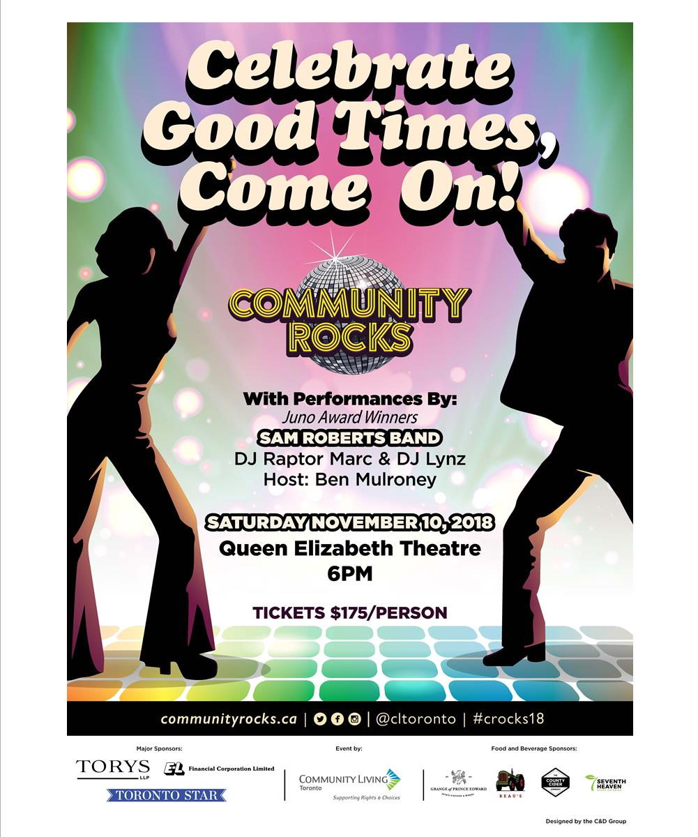 Get your Dancing shoes ready! Community Rocks in coming up! Saturday November 10th!