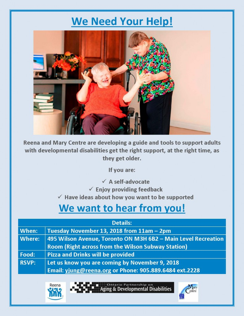Aging and DD - Self Advocates Session poster. download PDF version above this image.