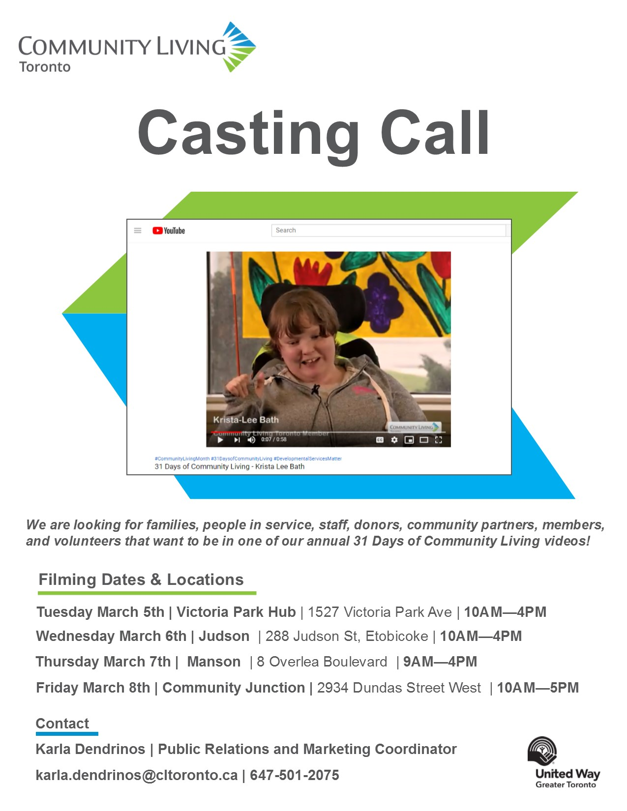 casting call flyer 2019