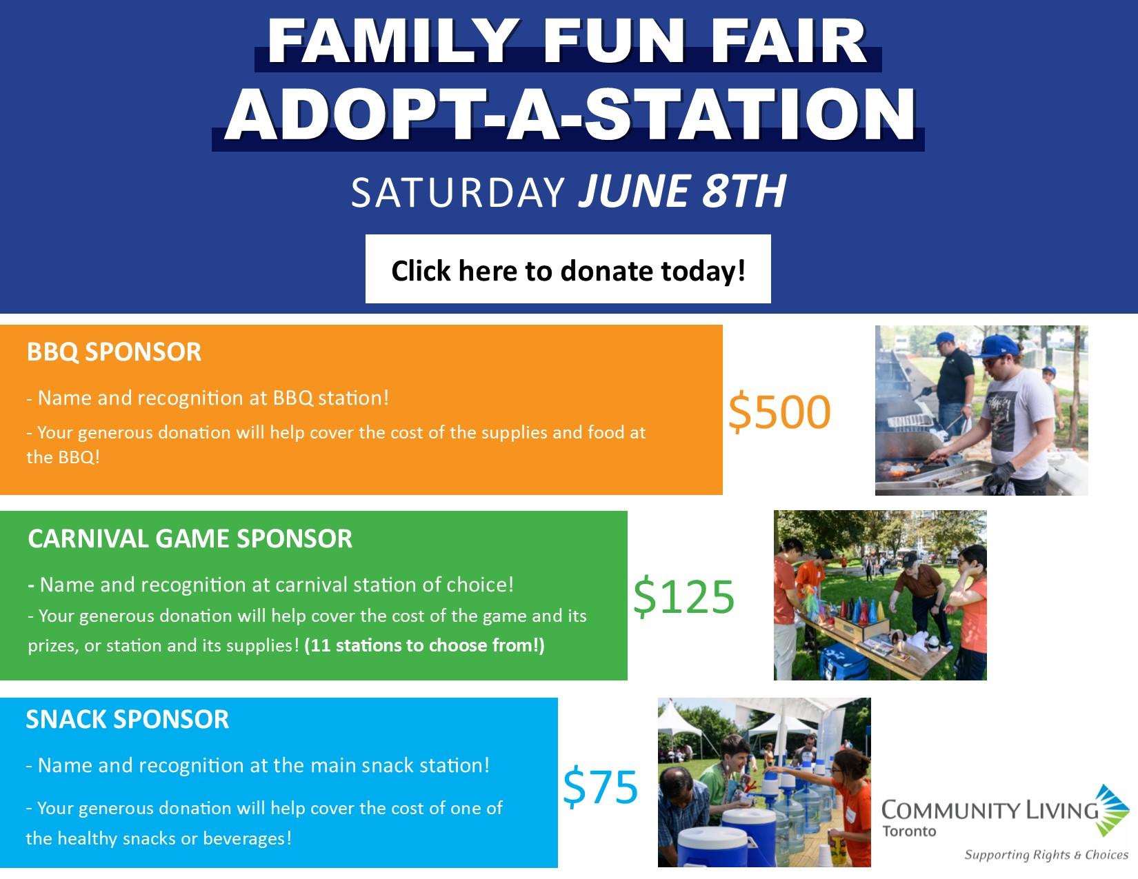 Family Fun Fair - Adopt a Station