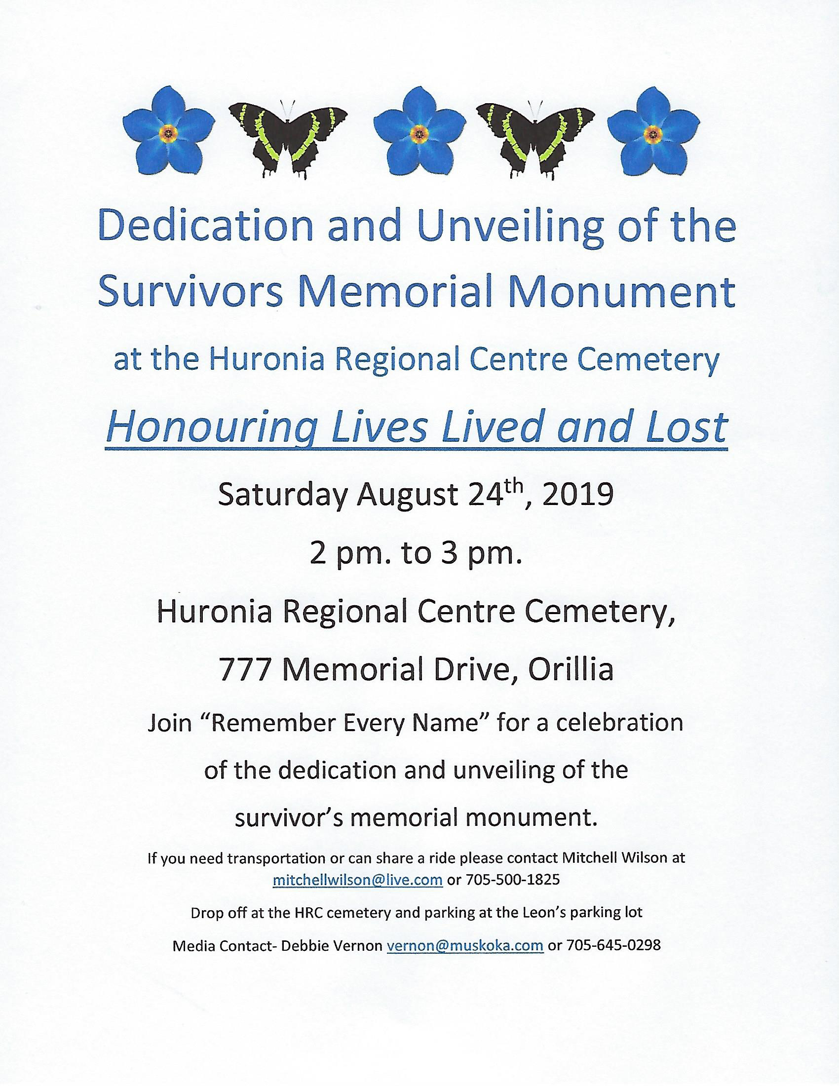 Honouring Lives Lived and Lost Dedication Ceremony jpg