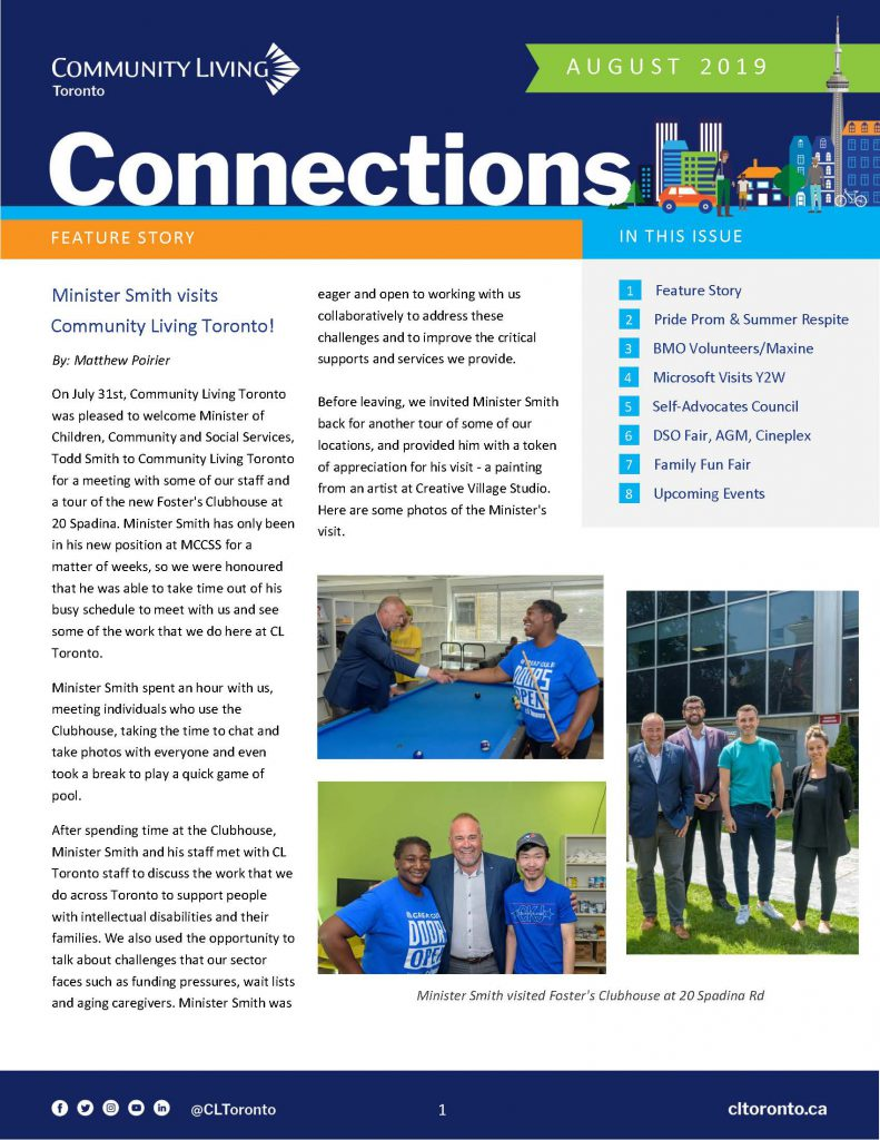 First page of Connections Newsletter. Click it to download it in PDF>